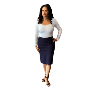 Ladies' Pencil Skirt XS-XXXL Modest Slim Skirt