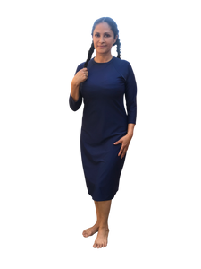 Modest swim dress blue