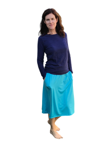 Long Swim Skirt turquois