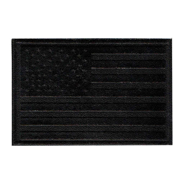 American Flag - Black Leather - Removable Patch 1