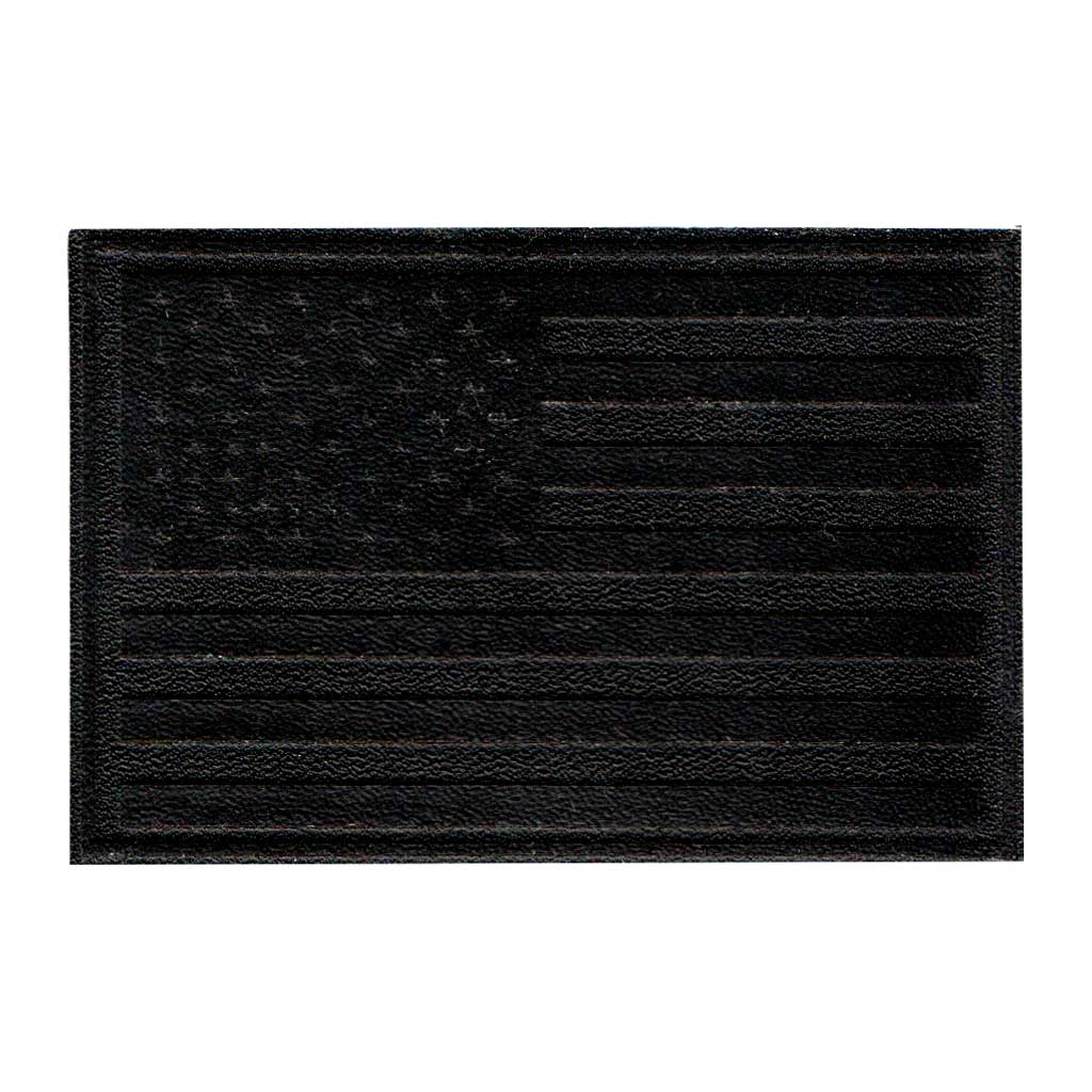 American Flag - Black Leather - Removable Patch - Pull Patch - Removable Patches For Authentic Flexfit and Snapback Hats