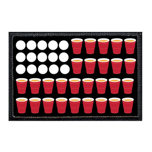 Beer Pong Flag - Beer - Removable Patch 1