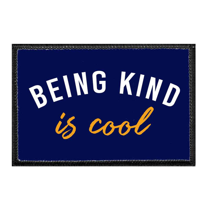 Being Kind Is Cool - Removable Patch - Pull Patch - Removable Patches For Authentic Flexfit and Snapback Hats