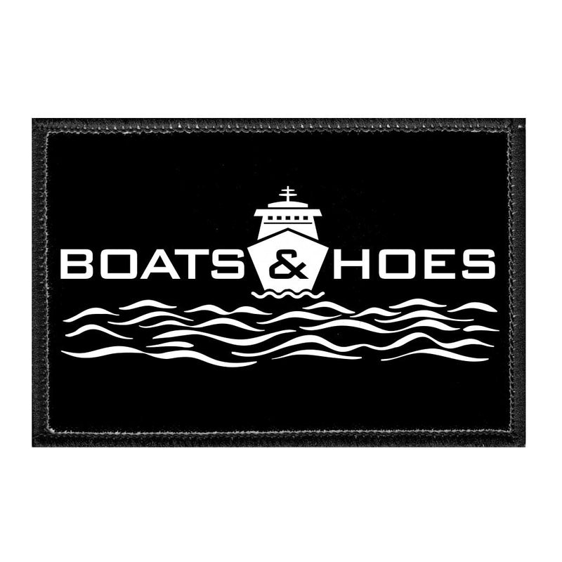 Boats And Hoes - Removable Patch - Pull Patch - Removable Patches For Authentic Flexfit and Snapback Hats