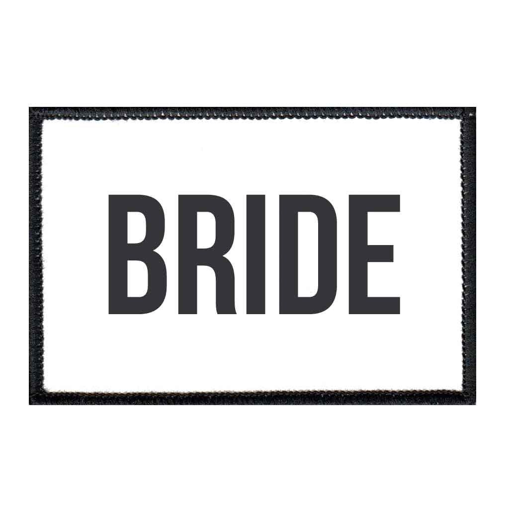 Bride - Patch - Pull Patch - Removable Patches For Authentic Flexfit and Snapback Hats