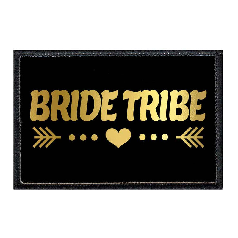 Bride Tribe - Arrows - Black And Gold - Patch - Pull Patch - Removable Patches For Authentic Flexfit and Snapback Hats