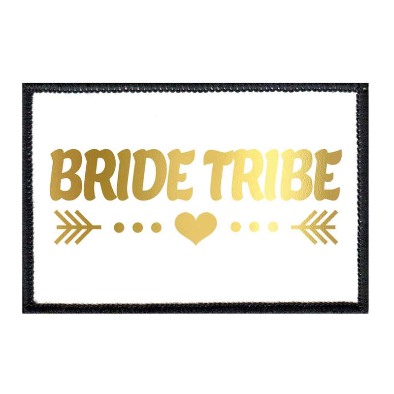 Bride Tribe - Arrows - Gold And White - Patch - Pull Patch - Removable Patches For Authentic Flexfit and Snapback Hats