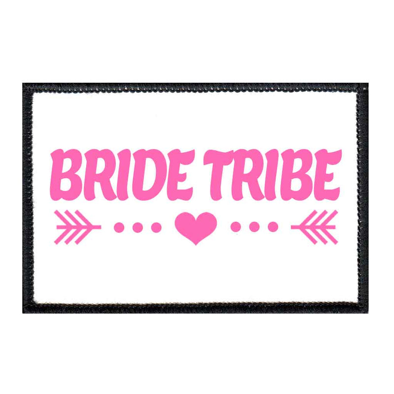 Bride Tribe - Arrows - Pink And White - Patch - Pull Patch - Removable Patches For Authentic Flexfit and Snapback Hats