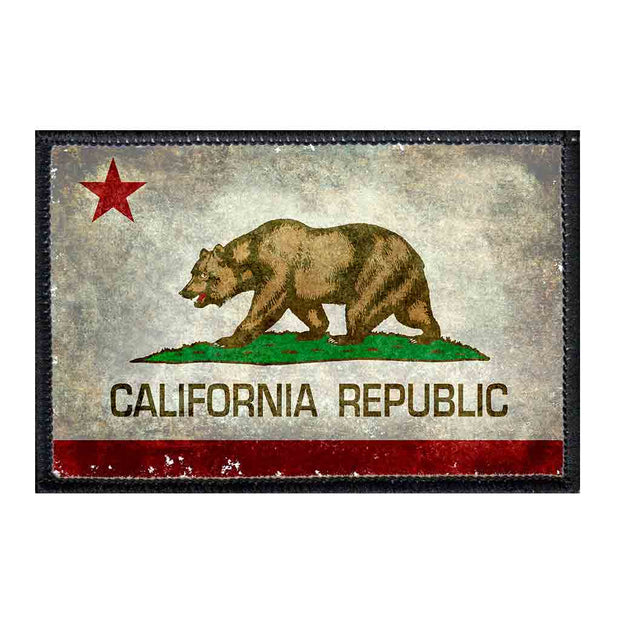 California State Flag - Color - Distressed - Patch 1