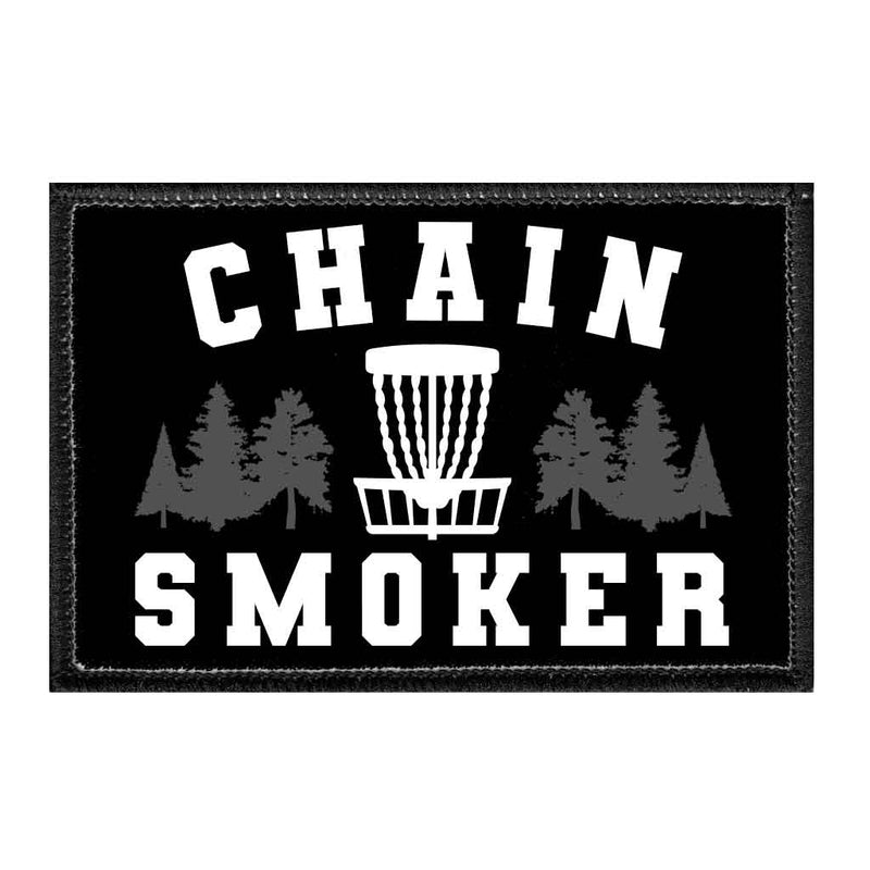 Chain Smoker - Disc Golf - Removable Patch - Pull Patch - Removable Patches For Authentic Flexfit and Snapback Hats