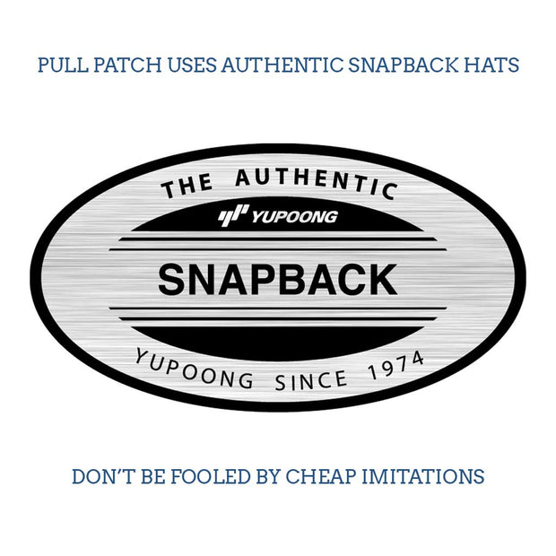 Classic Trucker 2-Tone Pull Patch Hat By Snapback - Charcoal and White 1