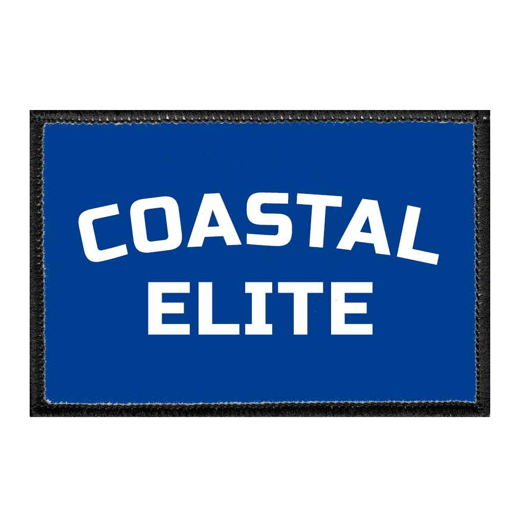 Coastal Elite - Removable Patch - Pull Patch - Removable Patches For Authentic Flexfit and Snapback Hats