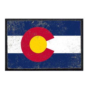 Colorado State Flag - Color - Distressed - Patch