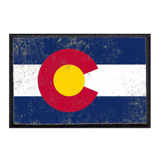 Colorado State Flag - Color - Distressed - Patch 1