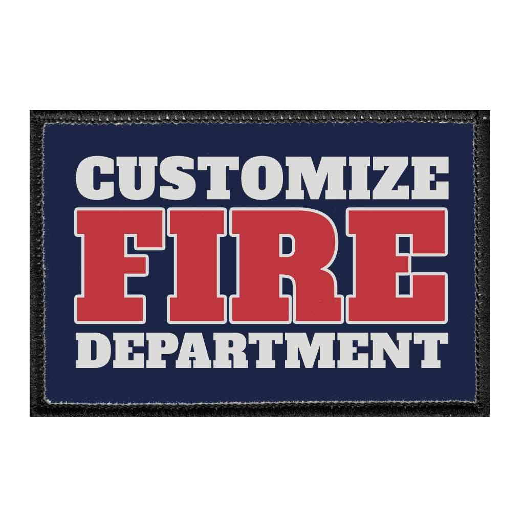 Customizable - Fire Department - Removable Patch - Pull Patch - Removable Patches For Authentic Flexfit and Snapback Hats
