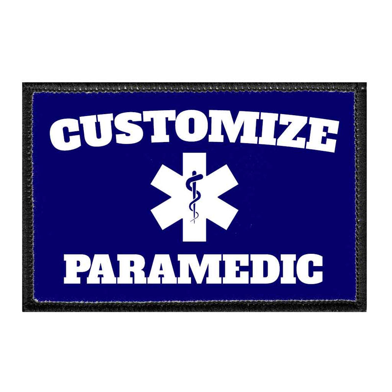 Customizable - Paramedic - Removable Patch - Pull Patch - Removable Patches For Authentic Flexfit and Snapback Hats