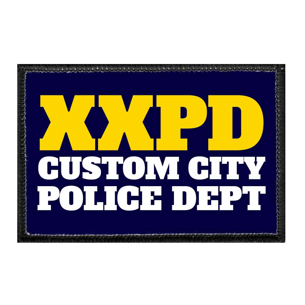 Customizable - Police Department - Removable Patch - Pull Patch - Removable Patches For Authentic Flexfit and Snapback Hats