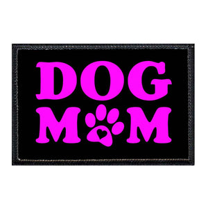 Dog Mom - Pink And Black - Patch