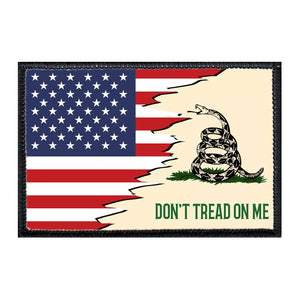 Don't Tread On Me - American Flag - Removable Patch