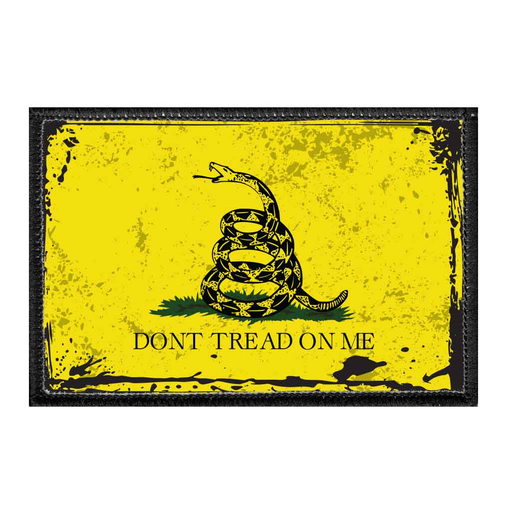 Don't Tread On Me - Antique - Removable Patch - Pull Patch - Removable Patches For Authentic Flexfit and Snapback Hats