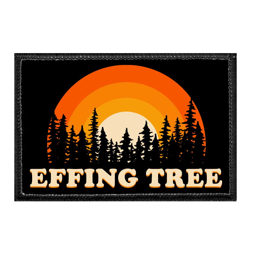 Effing Tree - Disc Golf - Removable Patch - Pull Patch - Removable Patches For Authentic Flexfit and Snapback Hats