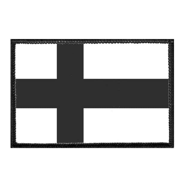 Finland Flag - Black and White - Removable Patch 1