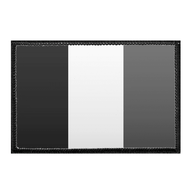 France Flag - Black and White - Removable Patch 1