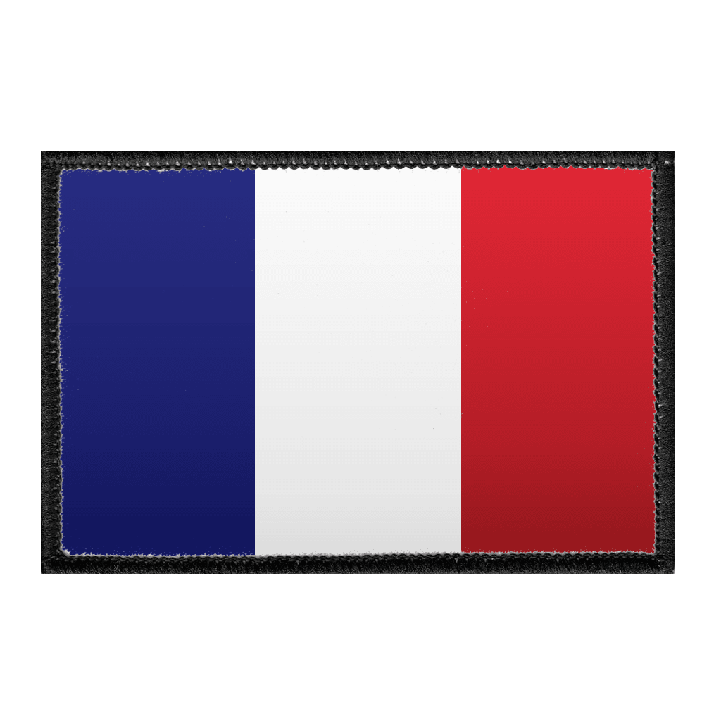 France Flag - Color - Removable Patch - Pull Patch - Removable Patches For Authentic Flexfit and Snapback Hats