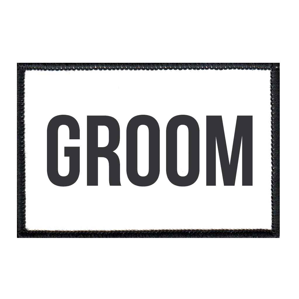 Groom - Patch - Pull Patch - Removable Patches For Authentic Flexfit and Snapback Hats