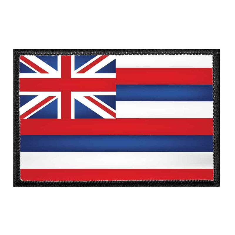 Hawaii State Flag - Color - Removable Patch - Pull Patch - Removable Patches For Authentic Flexfit and Snapback Hats