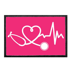 Healthcare Heartbeat - Hot Pink - Removable Patch