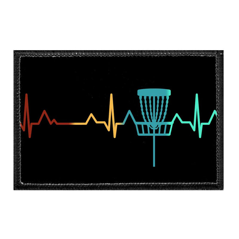 Heartbeat - Disc Golf - Removable Patch - Pull Patch - Removable Patches For Authentic Flexfit and Snapback Hats