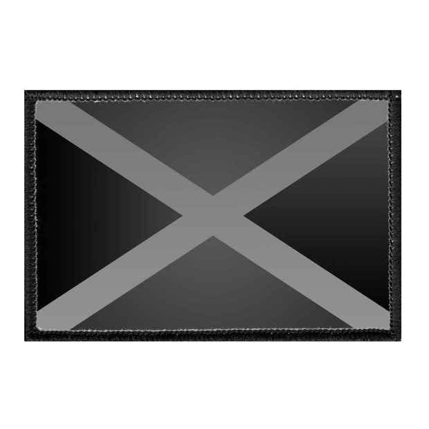 Jamaica Flag - Black and White - Removable Patch 1