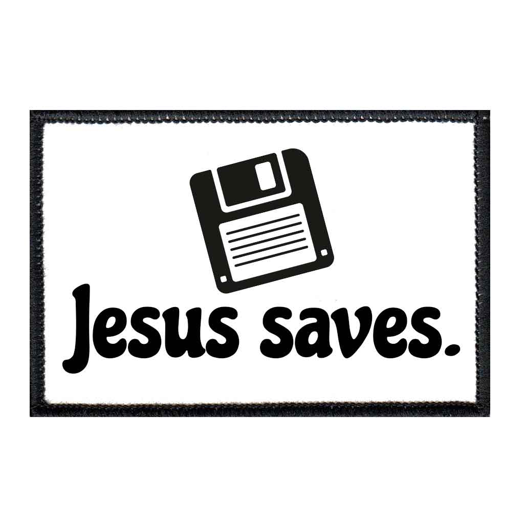Jesus Saves - Patch - Pull Patch - Removable Patches For Authentic Flexfit and Snapback Hats