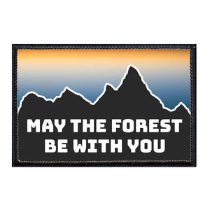 May The Forest Be With You - Silhouette - Removable Patch