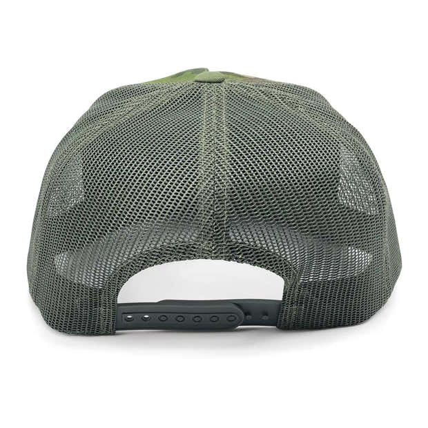 MULTICAM® Classic Trucker - Flat Bill - Pull Patch Hat by SNAPBACK - Tropical Camo and Green 1