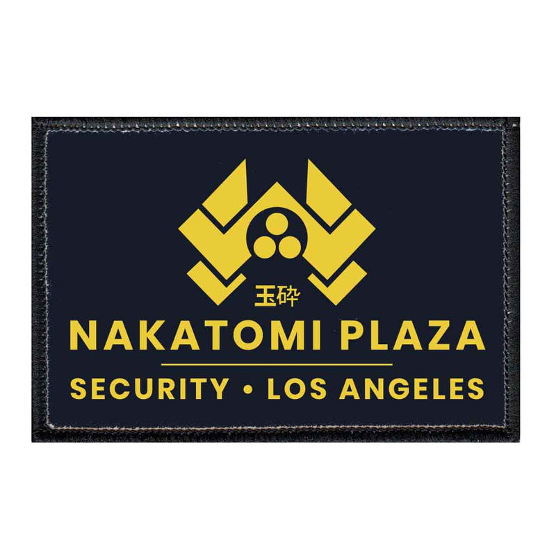 Nakatomi Plaza - Security - Black - Removable Patch - Pull Patch - Removable Patches For Authentic Flexfit and Snapback Hats