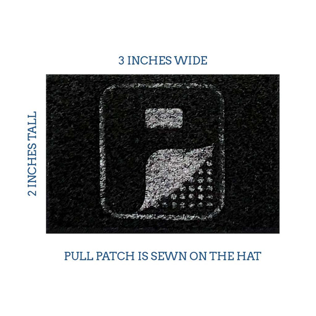 Navy and White - Trucker Mesh 2-Tone Flexfit Hat by Pull Patch 1