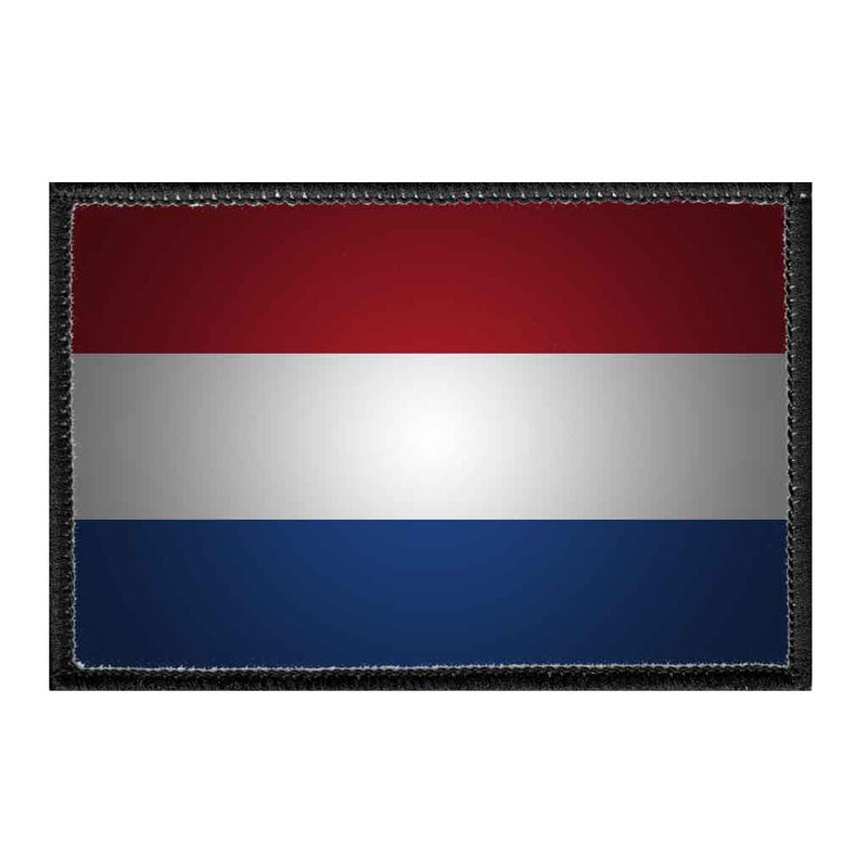 Netherlands Flag - Color - Removable Patch - Pull Patch - Removable Patches For Authentic Flexfit and Snapback Hats