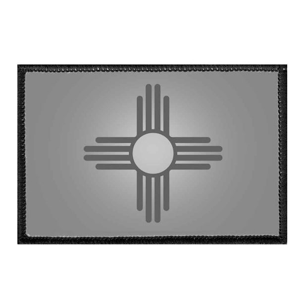 New Mexico State Flag - Black and White - Removable Patch 1