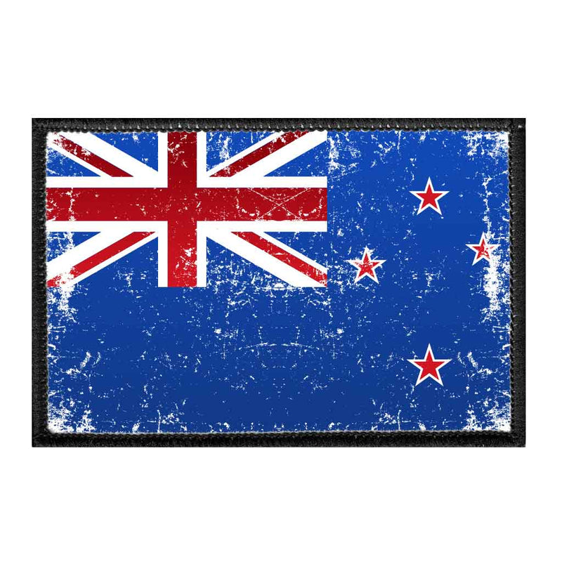 New Zealand Flag - Color - Distressed - Removable Patch - Pull Patch - Removable Patches For Authentic Flexfit and Snapback Hats