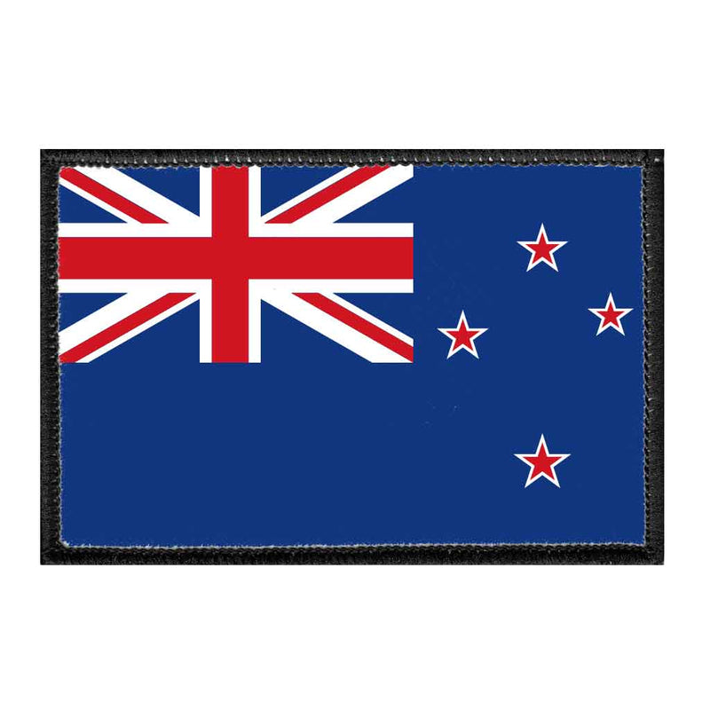 New Zealand Flag - Color - Removable Patch - Pull Patch - Removable Patches For Authentic Flexfit and Snapback Hats
