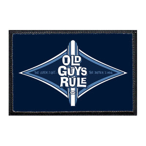 Old Guys Rule - Diamond Longboard -  Removable Patch