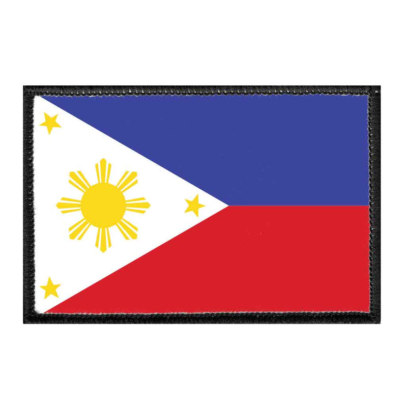 Philippines National Flag - Color - Removable Patch - Pull Patch - Removable Patches For Authentic Flexfit and Snapback Hats