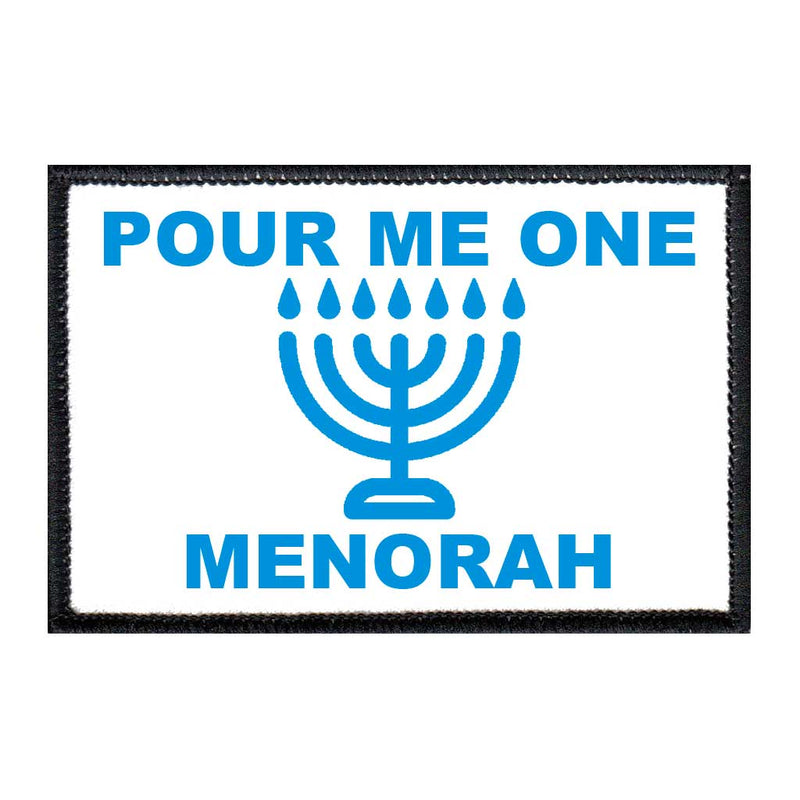 Pour Me One Menorah - Removable Patch - Pull Patch - Removable Patches For Authentic Flexfit and Snapback Hats