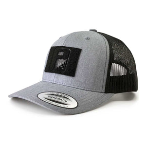 Retro Trucker 2-Tone Pull Patch Hat By Snapback - Heather and Black