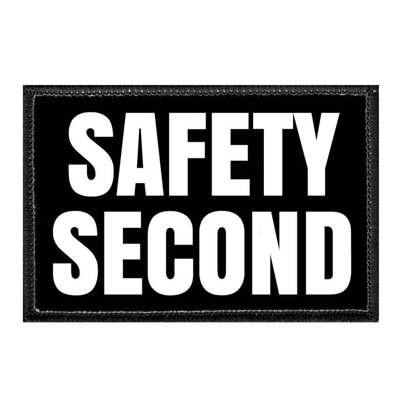 Safety Second - Removable Patch - Pull Patch - Removable Patches For Authentic Flexfit and Snapback Hats