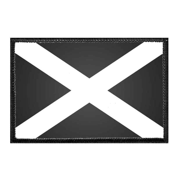 Scotland Flag - Black and White - Removable Patch 1