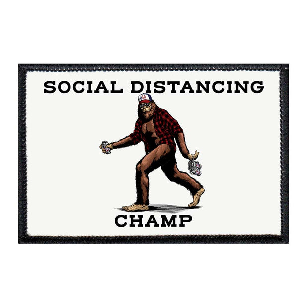Social Distancing Champ - Big Foot - Removable Patch 1