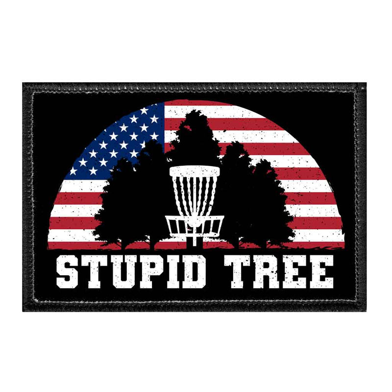 Stupid Tree - USA - Disc Golf - Removable Patch - Pull Patch - Removable Patches For Authentic Flexfit and Snapback Hats